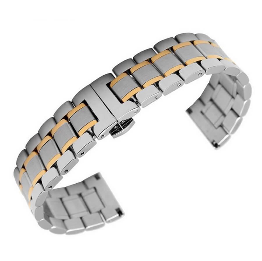 Bracelet Dual Or Jaune et Acier