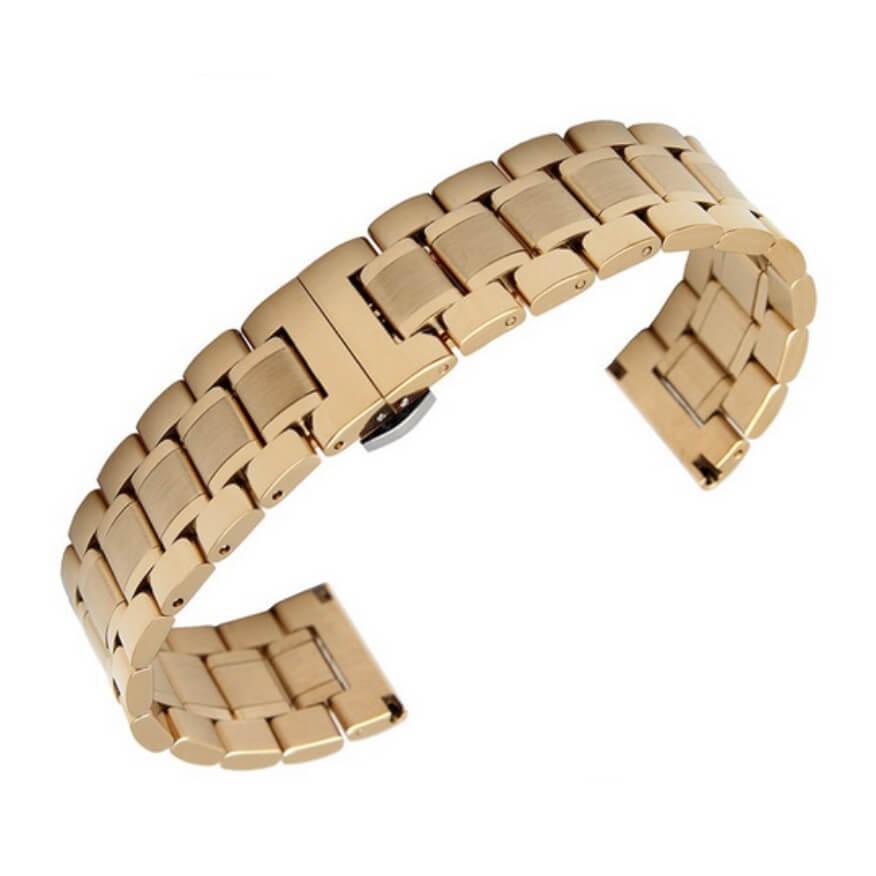 Bracelet Montre Acier et Or