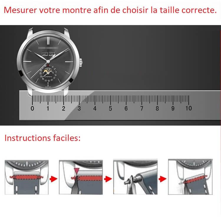 Mesure la taille d' un bracelet de montre