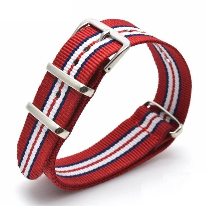 Nato Nylon Rouge Tricolor